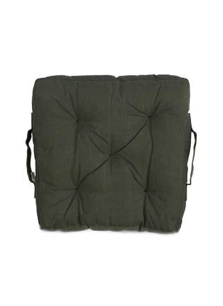 首图 –点击放大 - PONY RIDER - Camp Fire涂蜡纯棉帆布夹棉座垫-深绿色