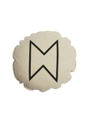 首图 –点击放大 - PONY RIDER - Fireside几何提花纯棉圆形靠垫套-米色及黑色