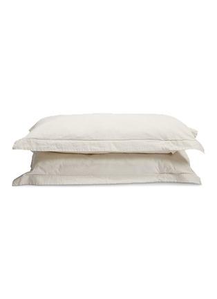 首图 –点击放大 - PONY RIDER - 石洗有机棉帆布枕套两件套-米色