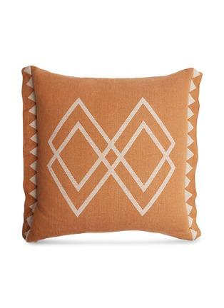 首图 –点击放大 - PONY RIDER - Dawn Ranger几何印花靠垫套-棕色及米色