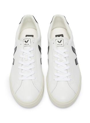 细节 - 点击放大 - VEJA - Esplar V字拼贴真皮运动鞋