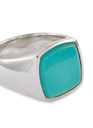 细节 - 点击放大 - TOM WOOD - Cushion绿松石纯银戒指