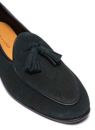 细节 - 点击放大 - BAUDOIN & LANGE - The Sagan流苏缀饰绒面真皮乐福鞋