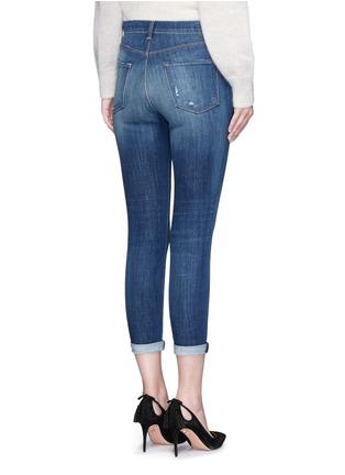 背面 - 点击放大 - J BRAND - 水洗磨破牛仔布长裤