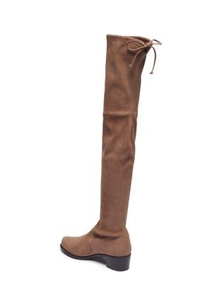 - STUART WEITZMAN - Midland弹力绒面真皮粗跟过膝长靴