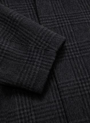- BALENCIAGA - INCOGNITO格纹混初剪羊毛及羊驼毛大衣