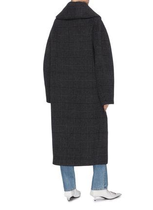 背面 - 点击放大 - BALENCIAGA - INCOGNITO格纹混初剪羊毛及羊驼毛大衣