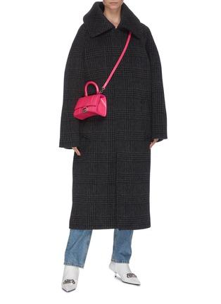 模特儿示范图 - 点击放大 - BALENCIAGA - INCOGNITO格纹混初剪羊毛及羊驼毛大衣