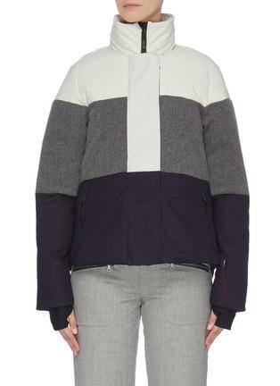 首图 - 点击放大 - ERIN SNOW - LOLA拼接设计夹棉功能混美丽诺羊毛连帽滑雪夹克