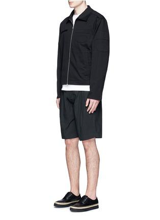 模特儿示范图 - 点击放大 - ALEXANDER WANG - 几何拼贴棉质夹克