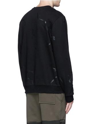 背面 - 点击放大 - ALEXANDERWANG - 条状胶印纯棉卫衣