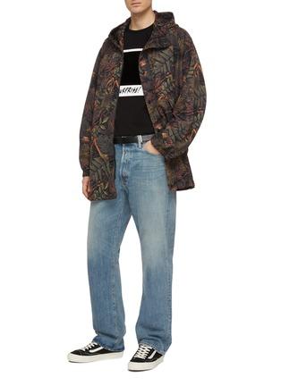 模特儿示范图 - 点击放大 - doublet - 搭叠刺绣植物印花连帽夹克