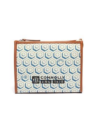 首图 - 点击放大 - CONNOLLY - 拼接设计几何印花帆布手拿包