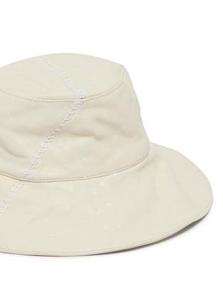 细节 - 点击放大 - SMFK - White Witch车缝线水染牛皮渔夫帽