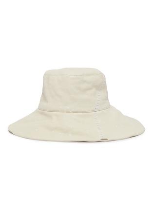 首图 - 点击放大 - SMFK - White Witch车缝线水染牛皮渔夫帽