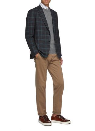 模特儿示范图 - 点击放大 - Brunello Cucinelli - 纯色针织衫