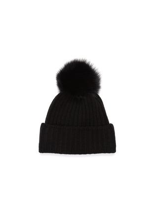 首图 - 点击放大 - Yves Salomon - 狐毛毛球羊绒针织帽