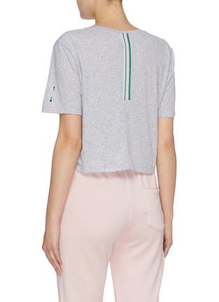 背面 - 点击放大 - THE UPSIDE - Anne V领纯棉短款T恤