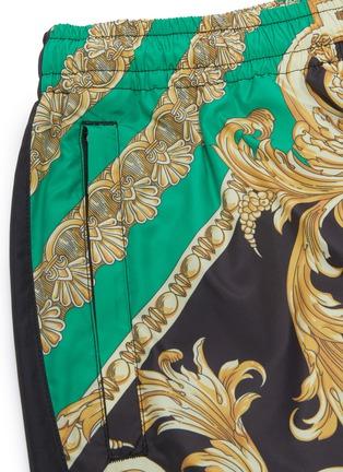 - Versace - 图腾印花拼色休闲裤