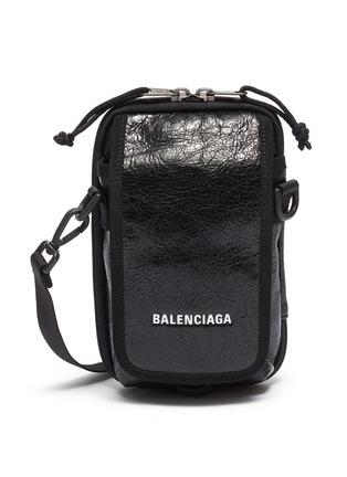 首图 - 点击放大 - Balenciaga - Explorer品牌名称小羊皮斜挎包