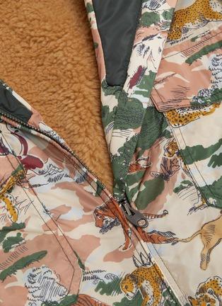 - Gucci - ECO拼接设计动物图案派克大衣