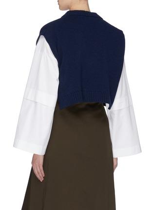 背面 - 点击放大 - CÉDRIC CHARLIER - 盖袖短款初剪羊毛针织衫