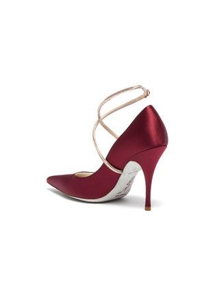 - René Caovilla - 仿水晶绕踝绊带缎面高跟鞋