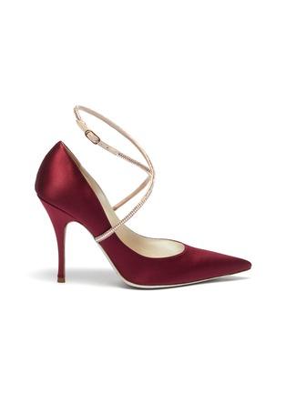 首图 - 点击放大 - René Caovilla - 仿水晶绕踝绊带缎面高跟鞋