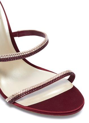 细节 - 点击放大 - René Caovilla - Cleo仿水晶绕踝绊带缎面高跟凉鞋