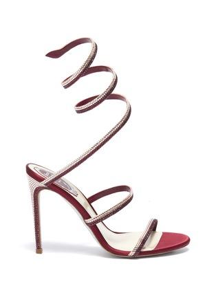 首图 - 点击放大 - René Caovilla - Cleo仿水晶绕踝绊带缎面高跟凉鞋