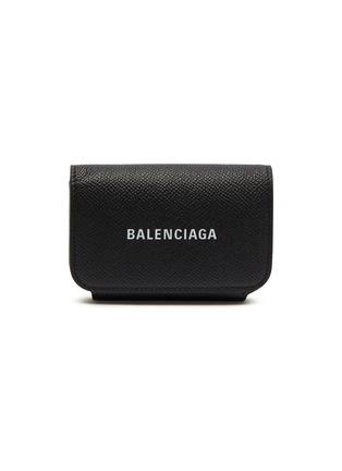 首图 - 点击放大 - BALENCIAGA - CASH ACCORD品牌LOGO小牛皮卡片套