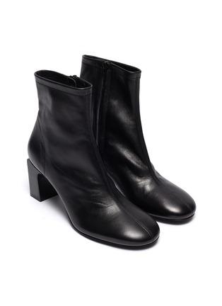 细节 - 点击放大 - BY FAR - Vasi矩形跟真皮短靴