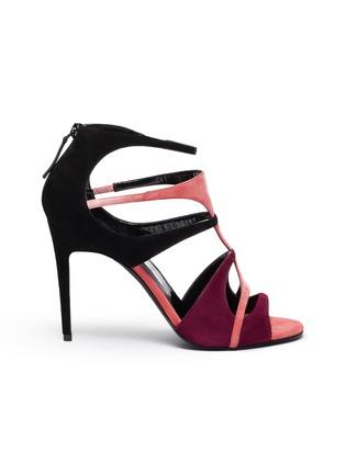 首图 - 点击放大 - Pierre Hardy - Jerry拼色设计镂空绒面真皮高跟鞋