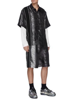 模特儿示范图 - 点击放大 - PRONOUNCE - Terracotta Warrior兵马俑印花短裤