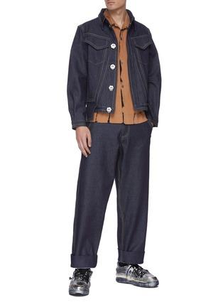 模特儿示范图 - 点击放大 - PRONOUNCE - 直脚露踝牛仔裤