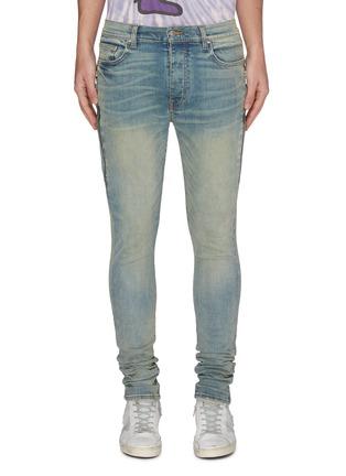 首图 - 点击放大 - AMIRI - HALF TRACK侧拉链褶裥水洗棉质牛仔裤