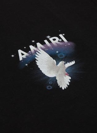- AMIRI - Rainbow Dove英文字品牌标志鸽子图案纯棉T恤