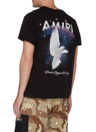 背面 - 点击放大 - AMIRI - Rainbow Dove英文字品牌标志鸽子图案纯棉T恤
