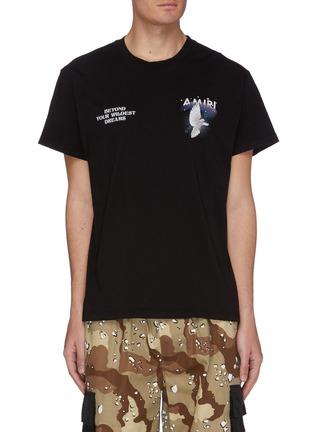 首图 - 点击放大 - AMIRI - Rainbow Dove英文字品牌标志鸽子图案纯棉T恤