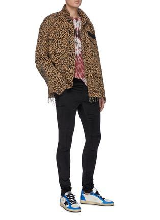 模特儿示范图 - 点击放大 - AMIRI - 混棉丝绒修身长裤