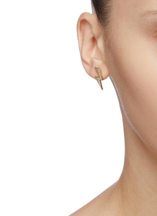 模特儿示范图 - 点击放大 - ISABEL MARANT - Flash仿水晶闪电金属耳钉