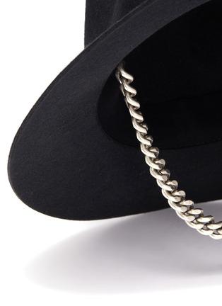 细节 - 点击放大 - MAISON MICHEL - Andre金属链条系带毛毡帽