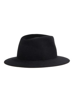 模特儿示范图 - 点击放大 - MAISON MICHEL - Andre金属链条系带毛毡帽
