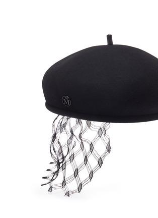 细节 - 点击放大 - MAISON MICHEL - New Bonnie蕾丝点缀毛毡贝雷帽