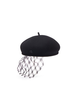 首图 - 点击放大 - MAISON MICHEL - New Bonnie蕾丝点缀毛毡贝雷帽