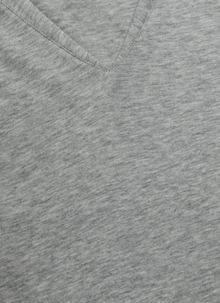 - FRAME DENIM - V领皮马棉T恤