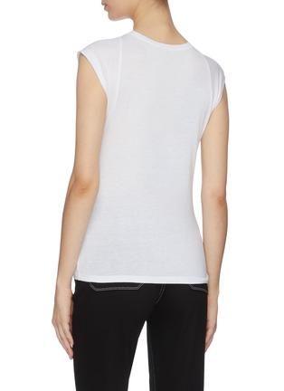 背面 - 点击放大 - FRAME DENIM - 修身皮马棉T恤