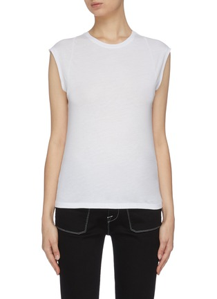 首图 - 点击放大 - FRAME DENIM - 修身皮马棉T恤