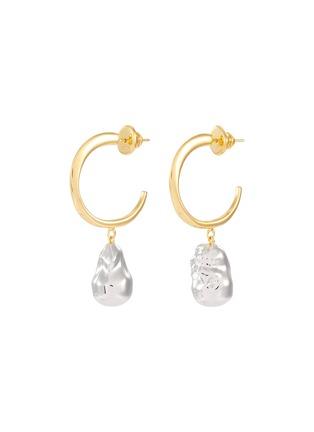 首图 - 点击放大 - J. HARDYMENT - Silver Pearl珍珠造型吊坠黄铜开口圆环耳环