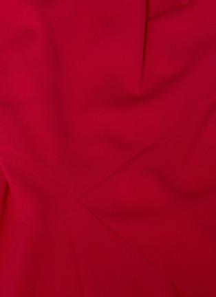 - Roland Mouret - WARREN褶裥衣袖不规则裙摆后开衩露背连衣裙